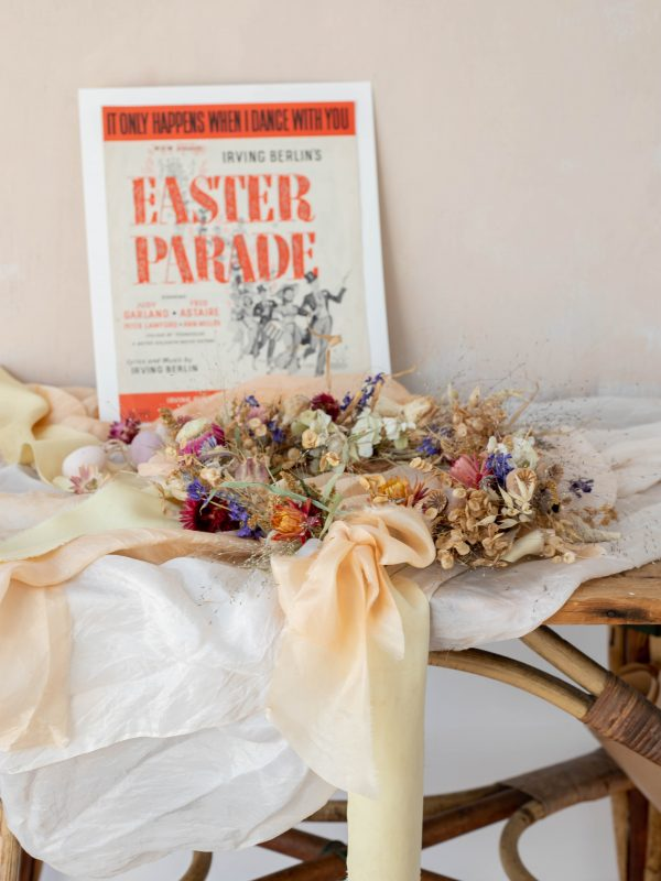 Easter parade inspired wreath