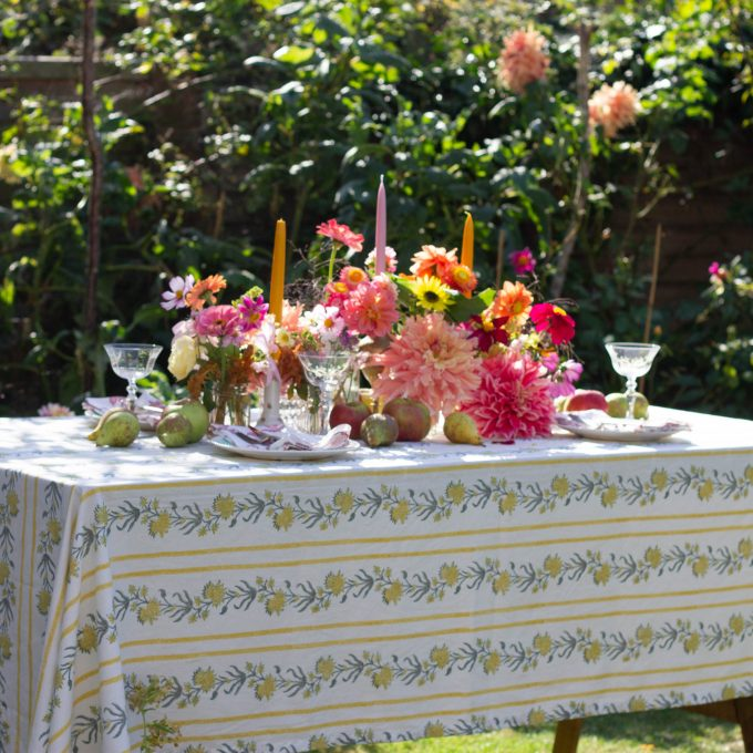 Colourful boho tablescape