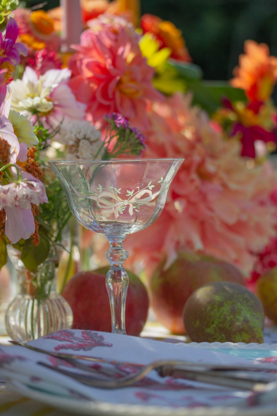 vintage champagne glass
