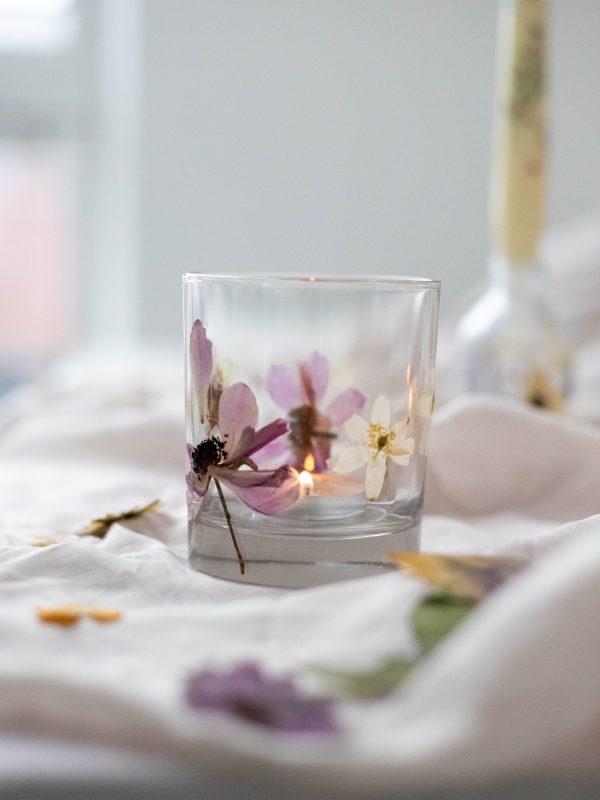 Spring inspired tealight holder