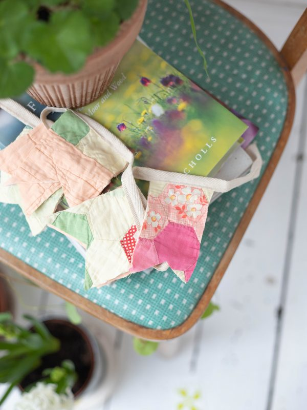 vintage quilt bunting