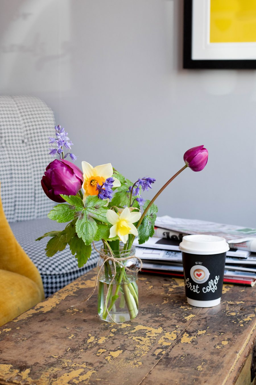 But_First_Coffee_Table_flowers