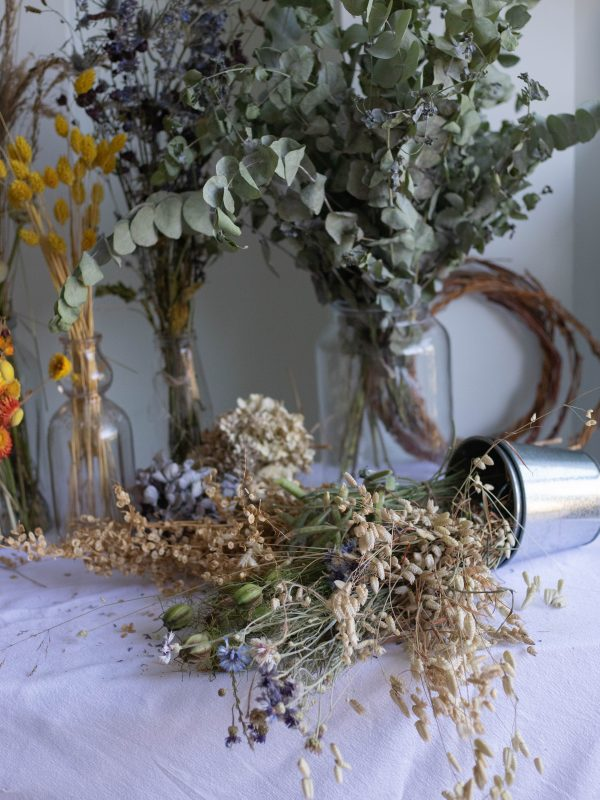 dried wreath making